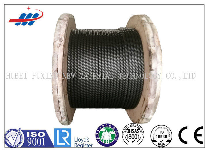 1570-1960MPA High Tensile Wire Rope For Loading / Unloading , 10m-2000m / Reel