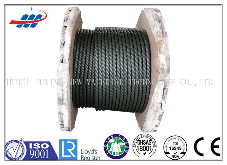 Black Elevator Steel Wire Rope , Left / Right Lay Wire Rope Cable 6-48mm Gauge