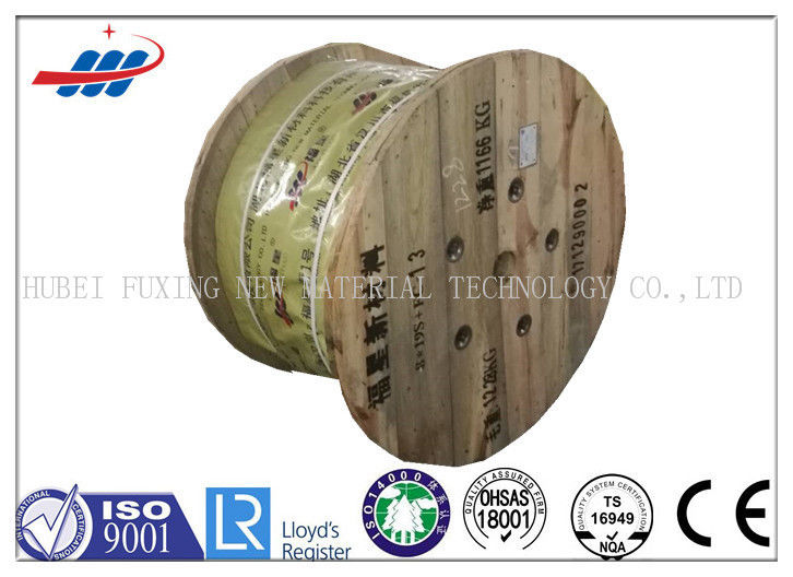 8*19S Elevator Wire Rope Ungalvanized Surface With Fiber Core , ISO CE Listed