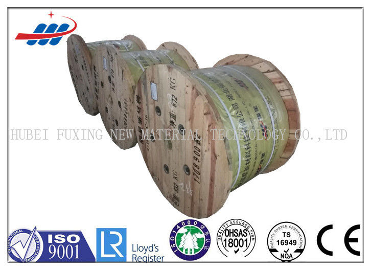 High Carbon Steel Wire Rope 12mm Dia For Llift , 10m-2000m / Reel Length