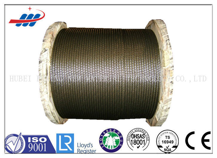 8x19S+FC Elevator Steel Wire Rope , Elevator Electrical Cable Dia 6 - 22mm